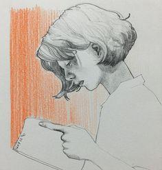 뭐라더라 한게 없는 사람일수록 늦게 자려한다고 했던 것 같은데... #나인가 #취미 #미술 #그림 #낙서 #드로잉 #스케치 #색연필 #연필 #샤프 #독서 #여자 #책 #주말 #hobby #doodle #drawing #sketch #pencil #color #art #reading #book #woman