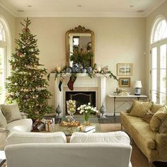 """""""Christmas coziest living rooms-Christmas-Holiday-Party-Decorating-Christmas-Living-Room"""""""