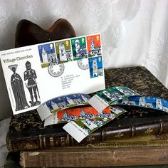 Vintage Postage Stamps1972 Village Churches by 3rdshelffromthetop, $15.00