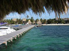 Catamaran on the Pier at Ramon's Village - Ambergris Caye, San Pedro ~ Belize