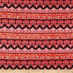 Rayon Challis Bohemian Pink from @fabricdotcom  This very lightweight rayon fabric is semi-sheer and has a beautiful fluid drape and soft hand. It is perfect for creating shirts, blouses, gathered skirts and flowing dresses with a lining. Colors include red, orange, purple, and black.