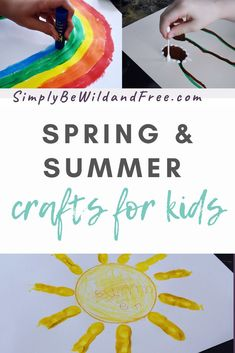 Spring and summer craft ideas for kids! #craftsforkids #kidcrafts #summercrafts #springcrafts #springcraftideas #summercraftideas #suncraftsforkids #rainbowncraftsforkids #flowercraftsforkids #dandelioncraftsforkids #butterflycraftsforkids Spring Arts And Crafts, Summer Crafts For Kids, Crafts For Kids To Make, Kids Crafts, Summer Preschool Activities, Preschool Crafts, Family Activities, Summer Slide, Summer Fun
