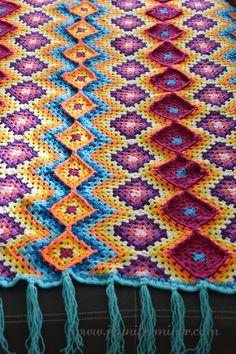 Fiber Friday - Mexican Crochet Blanket - Jennifer Miner's Blog