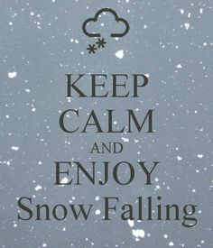 KEEP CALM AND ENJOY Snow Falling - KEEP CALM AND CARRY ON Image Generator