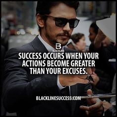 Success occurs when your actions become greater than your excuses quote #blacklinesuccess #sales #salestraining #entrepreneur #millionairemindset #goals #leadership #ceo #successful #motivation #leader #millionaire #business #hustle #picoftheday #Blackline #success #motivationalquote #joshcampos #inspiration #quotes #mindset #lifequotes #entrepreneurlife #money #ambition BLACKLINESUCCESS.COM