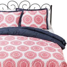 Xhilaration� Medallion Comforter Set - Pink I would use the navy side though!