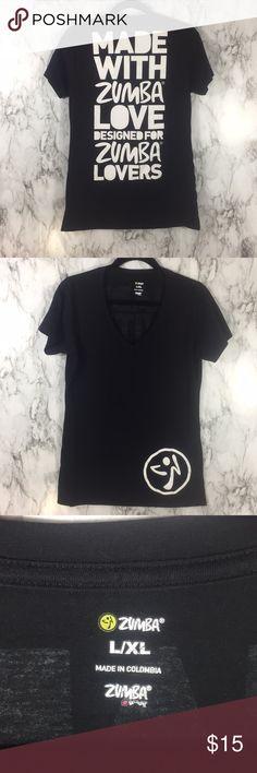 Zumba love shirt Black and white Zumba T-shirt Zumba Fitness Tops