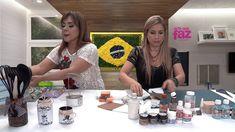 Quadro náutico - por Camila Claro de Carvalho para True Colors Tintas e Texturas Especiais Materiais: 1 placa de MDF ripada com 30 x 30 cm Pedaços de esponji...