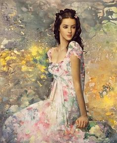 Valuable piece beautiful woman oil painting thanks for