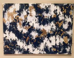 Silver and Gold Leaf Abstract by JillianRaeSchmidt on Etsy