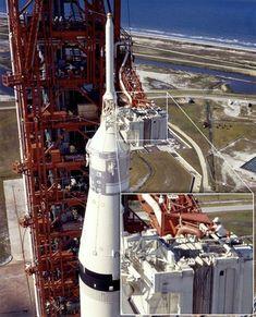 Nasa Amazing photos from NASA's vaults show how they assembled Apollo 11 - Nasa Missions, Moon Missions, Apollo Missions, Apollo Space Program, Nasa Space Program, Michael Collins, Nasa Rocket, Apollo Spacecraft, Nasa Images