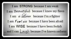 Strong, Beautiful, Lover, Fearless, Wise, Laugh