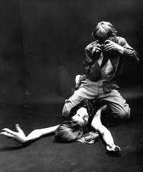 Blow Up -1966 film directed by Michelangelo Antonioni ( David Hemmings and Veruschka )