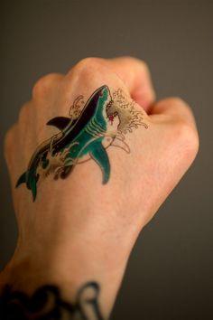Small Temporary Shark Tattoo Classic Tattoo by MadeByTattooYou, $6.00