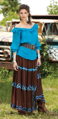This is a really nice outfit for you to wear when we go for strolls around the stockyards.