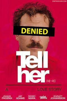 그녀에게 말할 때, 발음을 바르게 하렴. #Tell #Her #텔허 #테러 #발음주의 #바름주의 #Denied #Poster #Parody