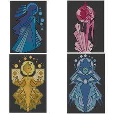 The Diamonds Steven Universe Cross Stitch