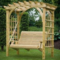 Roman Arbor Swing| Porch Swings | Gazebo Depot