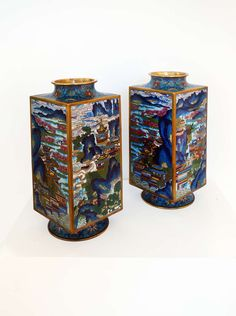 Cloisonne Vase | From a unique collection of sculptures at https://www.1stdibs.com/art/sculptures/