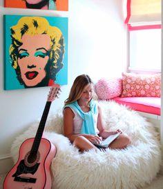 blog o wnętrzach dla dzieci, inspiracje : Trzy proste triki. Jak urzadzić pokój młodzieżowy dla dziewczyny.