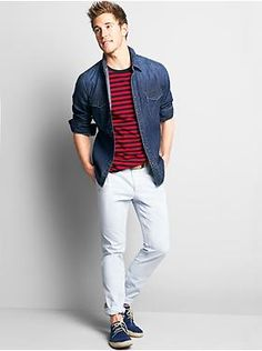 Stylish summer outfit for men.