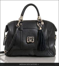 Handbag WANT medium box satchel in Taupe or Black Satchel, Crossbody Bag, Guess Purses, Guess Handbags, Taupe, Shoulder Bag, Wallet, Medium, Black