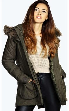 boohoo Freya Quilted Sleeve Fur Trim Hooded Parka - Breathe life into your new season layering with the latest coats and jackets from boohoo. Supersize your silhouette in a quilted jacket, stick to sporty styling with a bomber, or protect yourself from http://www.comparestoreprices.co.uk/womens-clothes/boohoo-freya-quilted-sleeve-fur-trim-hooded-parka-.asp