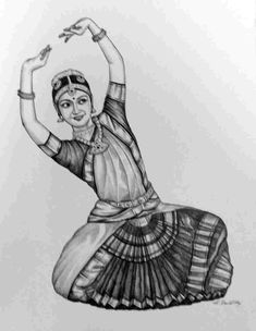 Art in India - A viewpoint: Black & White Bharatnatyam Dancers Pencil on paper -New Arrivals in the gallery Abstract Pencil Drawings, Dancing Drawings, Girl Drawing Sketches, Girly Drawings, Art Drawings Sketches Simple, Dancing Sketch, Dance Paintings, Indian Art Paintings, Sketches