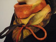 Hand felted scarf / Felted kerchief / Felted Triangle by oksana, $45.00