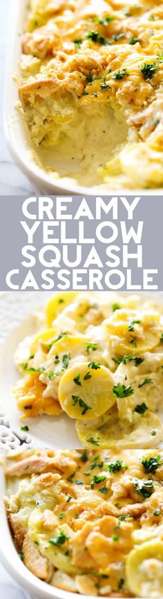 This Creamy Yellow Squash Casserole is such a wonderful side dish loaded with flavor. It goes wonderfully with almost any meal.