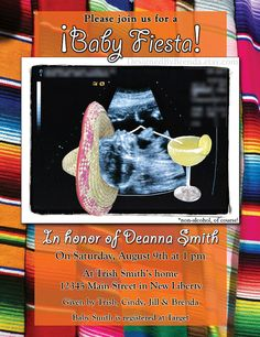 Mexican Fiesta Themed Baby Shower Invitation by DesignedByBrenda, $27.50. @Amanda Snelson Thompson!! So inappropriate it might just have to happen. With martini tho obviously