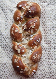 Spiced with cardamom and sprinkled with sugar and almonds, this rich, yeasted Finnish bread is a showstopper.