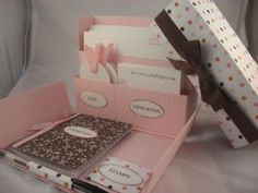 Little Birdie Secrets: a stationery box to make for mother's day