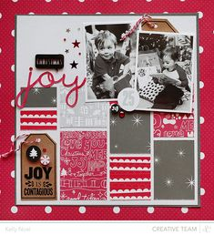 Christmas Joy - Studio Calico's Magical Collection - Kelly Noel #Christmas Scrapbook Layout Inspiration