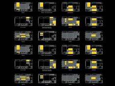 24 room, 344 Sq ft apartment, shows the way floorplans changes as walls move.
