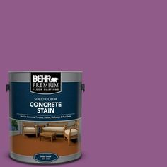 Use BEHR Premium Floor Coatings Acrylic Latex Porch and Floor Paint for painting basements, porches, floors, decks and patios and for a variety of other indoor and outdoor projects to enhance slip resistance. Concrete Porch, Concrete Bricks, Stained Concrete, Painted Brick Walls, Painted Floors, Flat Interior, Interior And Exterior, Paradise Landscape, Courtyards