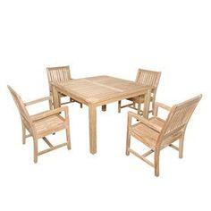 Anderson Teak Rialto 5-Piece Unfinished Teak Patio Dining Set Set-106C