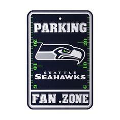 Seattle Seahawks 12a x 18a Fan Zone Parking Sign - Navy Blue - $9.95