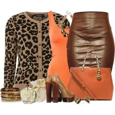 Animal Print Cardigan ou Blazer, created by sil-engler on Polyvore