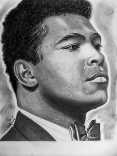 MUHAMMAD ALI in Pencil
