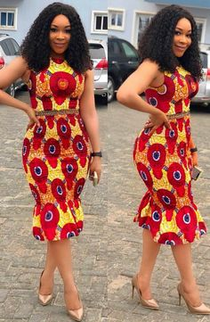 Latest beautiful collection the best plain and patterned ankara collections there are in the African print ankara fashion world African Dresses For Women, African Print Dresses, African Attire, African Wear, African Women, African Prints, African Style, African Fashion Ankara, African Fashion Designers