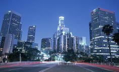 Downtown Los Angeles At Night by Hisham Ibrahim