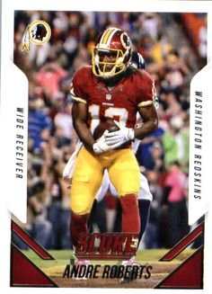 2015 Panini Score Football #130 Andre Roberts Washington Redskins #Score #WashingtonRedskins