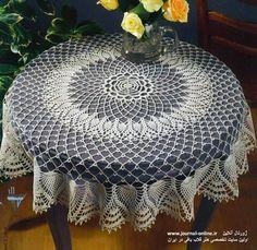 Materiales gráficos Gaby: Servilletas y manteles en crochet