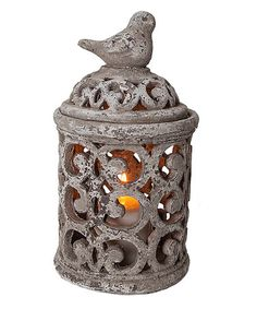 Look what I found on #zulily! Bird Scroll Canister Candleholder #zulilyfinds