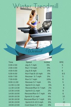Winter Interval Treadmill Workout - Sarah Fit #makefithappencontest