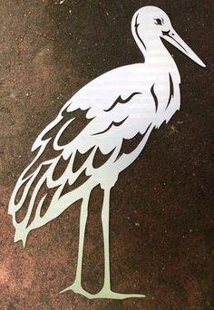 Rostfigur Storch/ Fischreiher, Edelrost Gartenfigur, Höhe 60 cm mit Spiess Kirigami, Office Wall Design, Moonlight Painting, Metal Art Projects, Welding Art, Scroll Saw Patterns, Animal Coloring Pages, Cardboard Crafts, Bird Pictures
