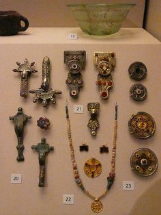 Early Anglo-Saxon brooches and pendants British Museum, London