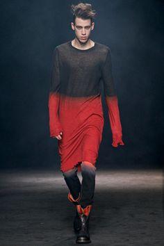 Ann Demeulemeester, Menswear Fall 2012. Ombré.