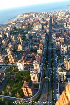 Gijón vista aérea avda. de la Constitución
